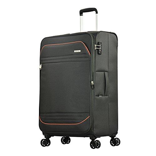 Eminent Koffer Barcelona 77 cm 102 / 114L Lichtgewicht 4 Stille dubbele wielen TSA-slot Grijs