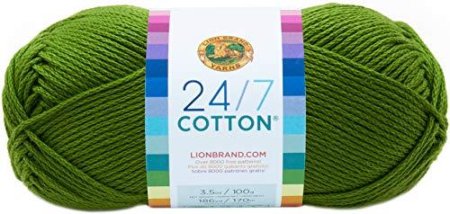 Lion Brand Yarn 761-172 24-7 Cotton Yarn, Grass