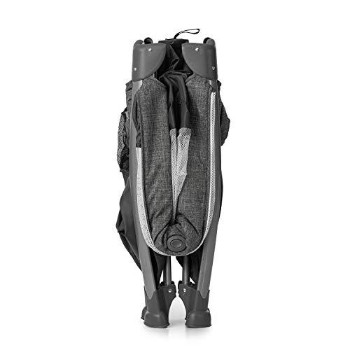 Hauck Play'n Relax Center Reisebett, 7-teiliges, ab Geburt bis 15 kg, faltbar und kippsicher, mit Neugeborenen Einhang, Wickelauflage, seitlicher Ausstieg, Netztasche, Räder, Transporttasche, grau - 18