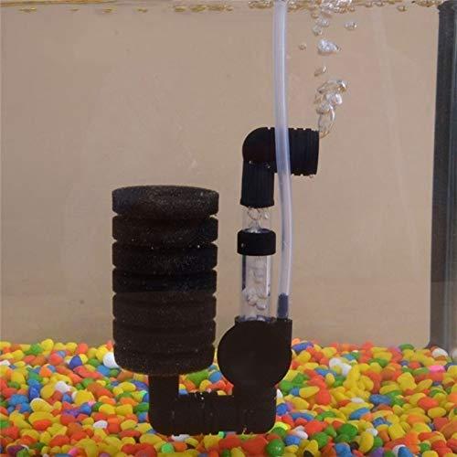 YTG Filtro de Acuario pecera Bomba de Aire Skimmer bioquímica Filtro de la Esponja de filtración del Acuario Herramientas de Limpieza de Filtro (Color, Size : One Size)