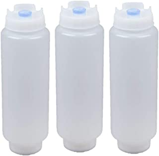 FIFO Squeeze Bottle Refillable 16 oz Blue Tip (3 Pack)