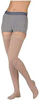 3511AGSBSH00 I Dynamic 20-30 mmHg Open Toe Thigh High Firm Compression Stockings With Silicone Border In Short - Seasonal44; I - Extra Small