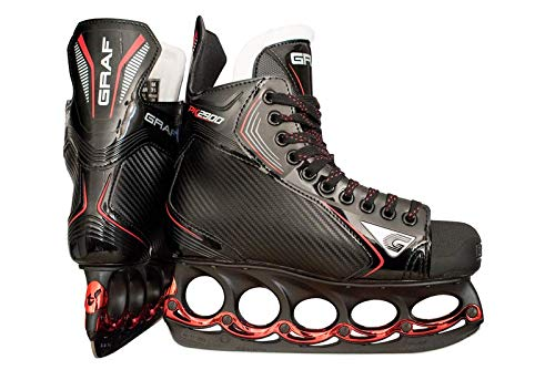 GRAF PK2900 Skate mit T - Blade System Black Edition Senior, Weite :D, Größe:9.5 = 44