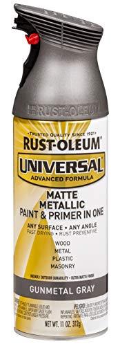 Rust-Oleum 353091 Universal Spray Paint, 11 oz, Matte Gunmetal Gray, 11 Ounce