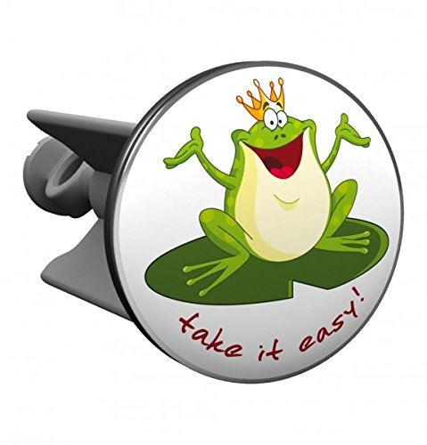 Stöpsel Frosch Take it easy - Plopp Waschbeckenstöpsel, Badewannenstöpsel, tolles Geburtstagsgeschenk, Geschenkidee, Badezimmerzubehör, Weihnachtsgeschenk, Geschenkidee Weihnachten
