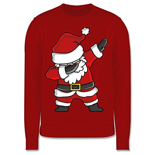 Shirtracer Weihnachten Kind - Dabbing Weihnachtsmann - 116 (5/6 Jahre) - Rot - Pullover grau weihnachtsmann - JH030K - Kinder Pullover