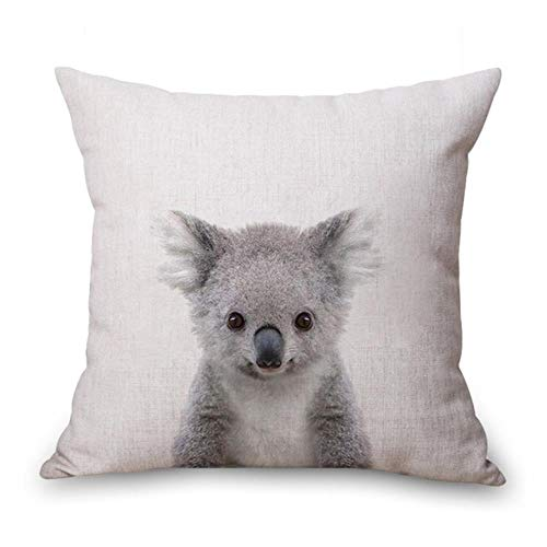 Ving Rabbit Bear Tiger Deer Panda Neck Body Kussensloop Linnen Bed Reiskussens Cover Couch Zitkussen Sierkussen Woondecoratie, Paars, 45X45cm kussensloop