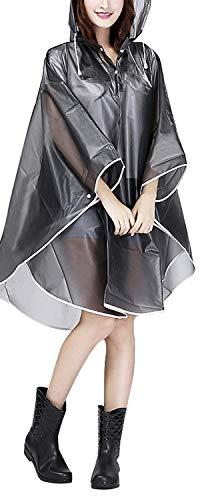 Jetai, Poncho Impermeabile Trasparente da Donna, Portatile Impermeabile Cappotto da Pioggia Antipioggia per Escursionismo, Camminata in Montagna, Campeggio, Ciclismo, Pesca o Caccia