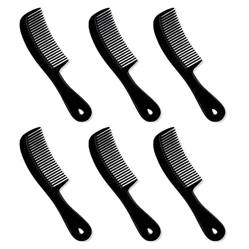 Hair Combs – Plastic Comb Unbreakable - Pocket Combs Bulk- Hair Combs for Men - Black Unbreakable Comb - Travel Comb - Pack of 6 Pocket Combs for Men