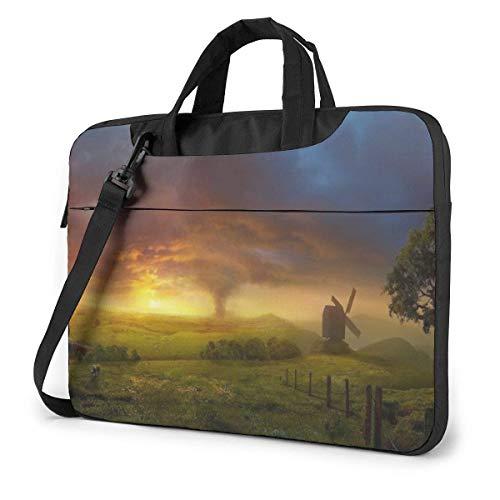 Laptop Shoulder Bag Carrying Laptop Case, Tornado Near The Sun Computer Sleeve Cover, Business Briefcase Bag