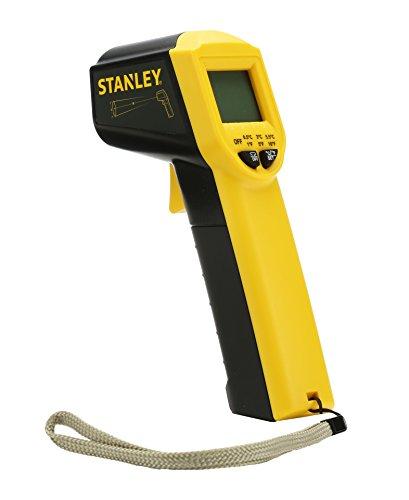 Stanley Stht0-77365 Thermomètre Laser - De-38° À 520° - Livré Avec 2 Piles - Emissivité De 0,95 - Détection De Fuites Thermiques - Contraste Élevé