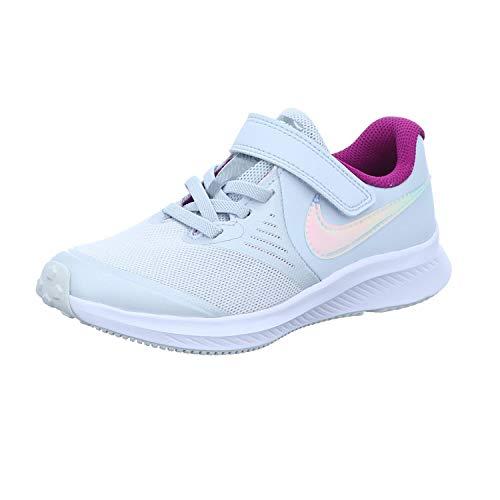 Nike Star Runner 2 Running Shoe, Pure Platinum/Multi-Color-Barely Volt-Red Plum-White, 36 EU