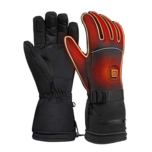 CLISPEED Winter Heated Gloves 3 Levels Temperature Control Hand Warmers Touch Screen Thermal Gloves for Skiing Cycling Riding Hunting Fishing