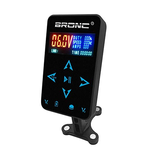 BRONC Professional Dual Digital Tattoo Power Supply Colorful HD LCD Display for Two Tattoo Machines TPN-037