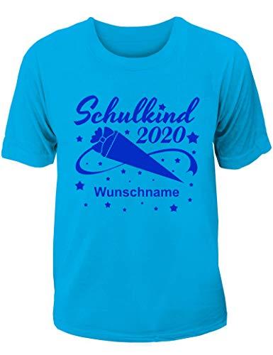 T-Shirt Einschulung/Schulanfang: Schulkind 2020 mit Wunschnamen