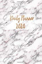 2020 Daily Planner: Diary Calendar and Year Agenda and Organizer. Daily, Weekly, Monthly Pages From Jan 2020 to Dec 2020. One Day Per Page. Black and White Marble with Rose Gold Effect.
