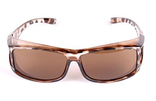 Neo+, DamenSonnenbrille, polarisierte Gläser, Schildpatt, UV400, passt über Brillen