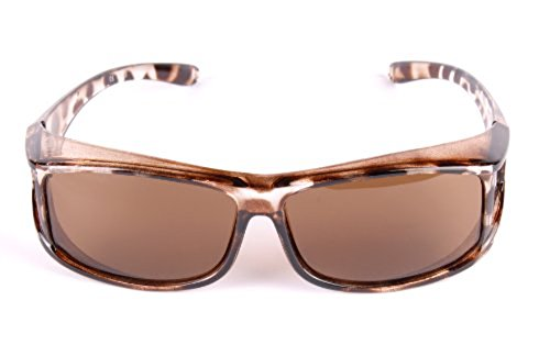 Vendeur de Grande-Bretagne ! Lunettes de soleil, verres polarisés Écaille de tortue UV400 Se porte par dessus une paire de lunettes de vue