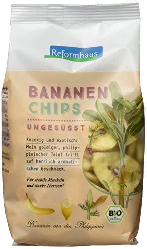 Reformhaus Bananen-Chips ungesüßt bio, 6er Pack (6 x 175 g)