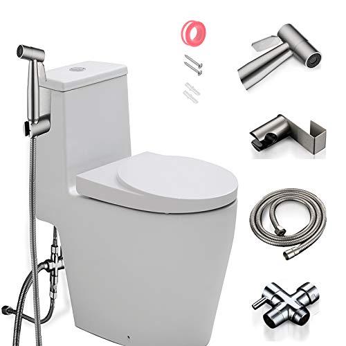 Bidet Sprayer for Toilet, Handheld Bidet Spray water Kit, Bathroom Hand Shower for Self Cleaning – reduce Toilet Paper Waste – Premium Stainless Steel