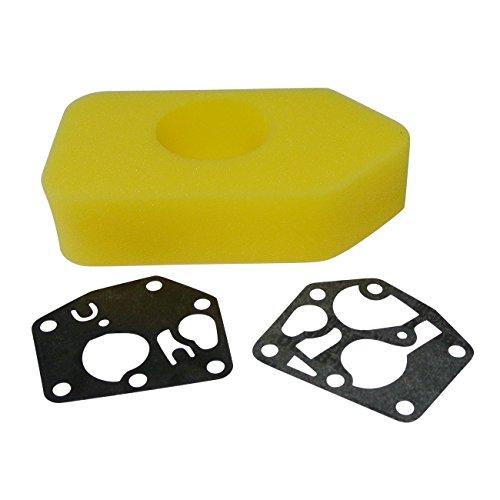 Generic Luftfilter + Vergaser Membrane + Primer für Briggs & Stratton 450 500 550 Series ab 2003 ersetzt 698369 / 795083 495770 / 694394 494408, J19LM, 7721, 5936, 14547