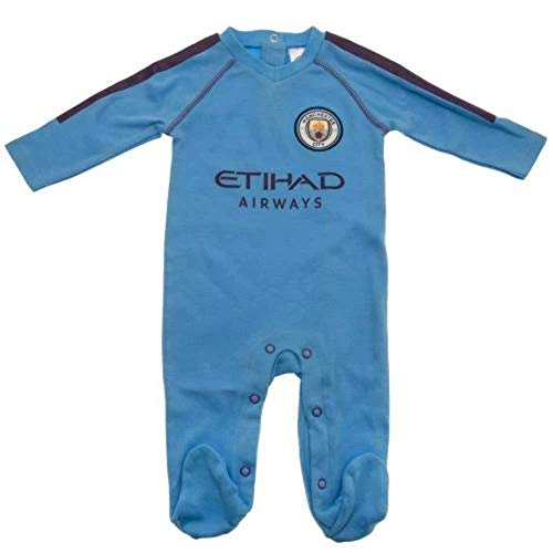 Brecrest Manchester City Baby Sleepsuit 2019/20-3-6 Months