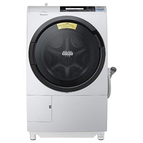 日立 ドラム式洗濯乾燥機 ビッグドラム 左開き 11kg ライトグレー BD-S8800L H
