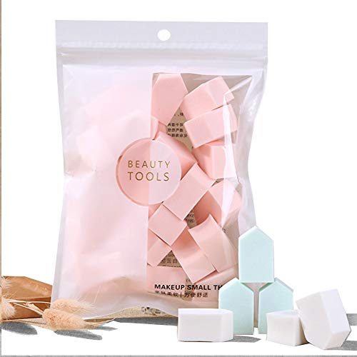 Latex Free Makeup Powder Blender Sponges for Full Face Curve Blending Coverage, Cream, Liquid Foundation Cosmetics, Disposable Beauty Foam Applicator Puffs for Sensitive Skin,Pentagon