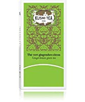 KUSMI TEA - Ginger-lemon green Tea - 生姜レモン緑茶 - 24ティーバッグ - 並行輸入品