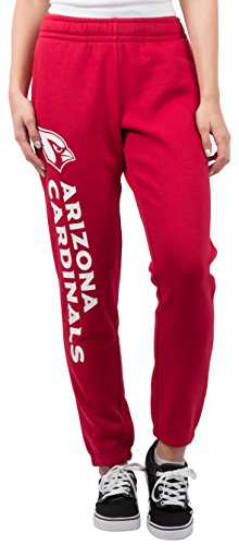 Ultra Game Women's NFL Relaxed Fit Jogger, Arizona Cardinals, Team Color, Large Arizona Cardinals Fleece Fabric