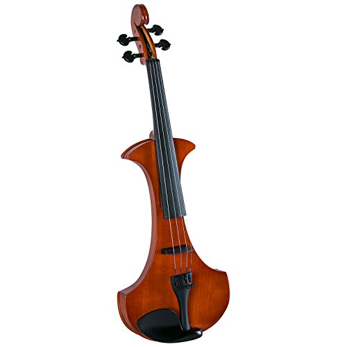 Cremona SV-180E Premier Student Electric Violin Outfit - 4/4 Size,Translucent Red Orange