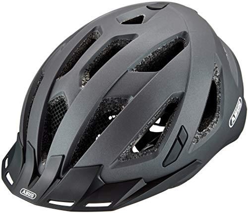 ABUS Urban-I 3.0 Stadthelm - Fahrradhelm mit Rücklicht für den Stadtverkehr - für Damen und Herren - 86865 - Titan (gräulich), Größe XL