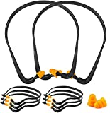 Band Earplugs Hearing Bands Banded Shooting Ear Plugs Lightweight Silicone Earplugs for Construction Work, Sleeping, Concerts, Shooting Hunting, Soft Reusable Washable (Ear Plugs 8pcs)