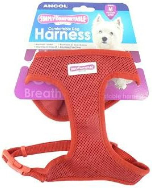 (10 Pack) Ancol  Comfort Mesh Dog Harness Red Medium