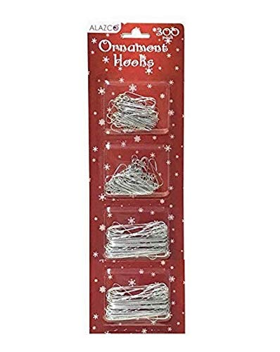 Christmas Holiday Ornament Hanger Hooks Hang Holiday Ornaments & Decorations Tree, Garlands & Wreaths (300 Silver)