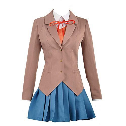 Expeke Women Sayori Yuri Natsuki Monika Uniform Cosplay Costume (Women XL, Style 1)