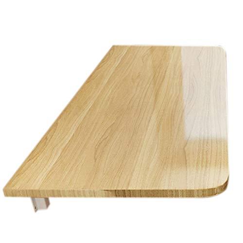 Wandgemonteerde klaptafel, opklapbare keuken en eettafel, houtnerfkleur-100 * 60cm