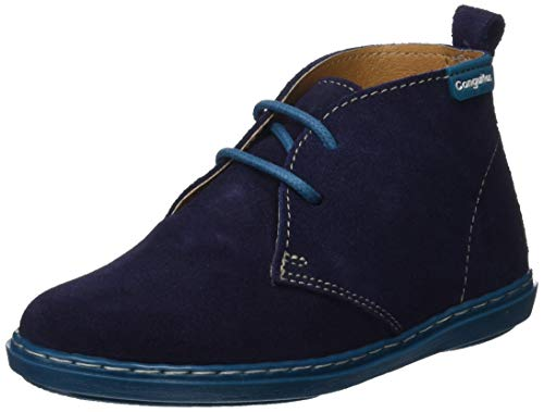 Conguitos Botin Desert Cordones, Boots Mixte Enfant, Bleu (Marino 2), 26 EU