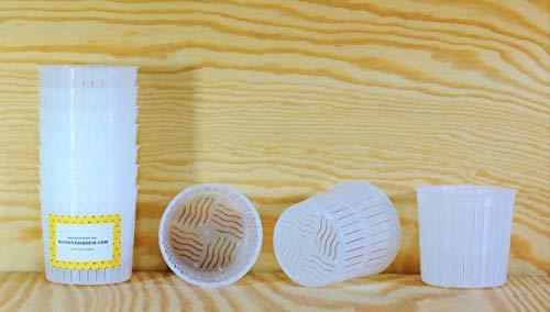 10 x Moule à fromage 5x5cm - 100g - Ricotta | Ricolat | Forme à fromage | Moule à faisselle | Fromage maison