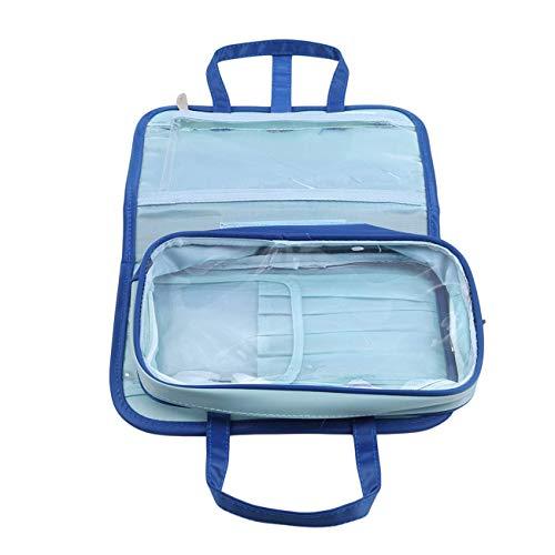 Trousse de toilette pliable avec poignée supérieure - Étanche - Pour femme - Couleur 1