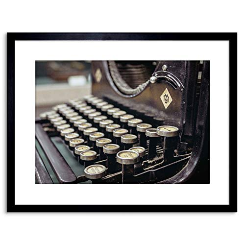 The Art Stop Photo Old Typewriter Keyboard Retro Vintage Framed Print F97X5431