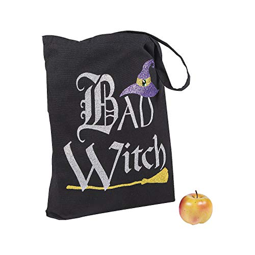 Good Witch/Bad Witch Reusable Tote – Halloween Apparel and Accessories – 1 Piece Black