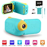 GKTZ Video Camera Camcorder Digital for Kids, Children's Toys DV Cameras Recorder with 2.4' 1080P FHD Screen for Age 3-10 Year Old Boys Girls Birthday Gifts,Including 32GB Memory Card - Blue