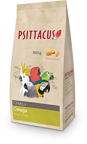 Psittacus - Alimento para pájaro fórmula Omega Plumaje 800 gr.