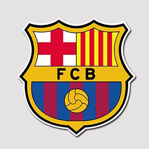 WUWEI Pegatinas de Barcelona Pegatinas de La Liga Pegatinas de Barca Pegatinas de Caja de Palanca de Viaje Pegatinas Impermeables 5 Piezas