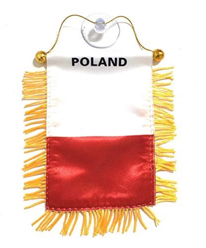 Poland Interior Rear View Mirror Car Automobile Flag Banner