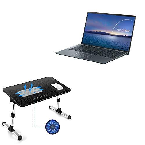 Suporte e suporte BoxWave para ASUS ZenBook 14 Ultralight UX435 [suporte de bandeja para laptop de madeira verdadeira] Mesa para trabalho confortável na cama. Para ASUS ZenBook 14 Ultralight UX435 – Preto