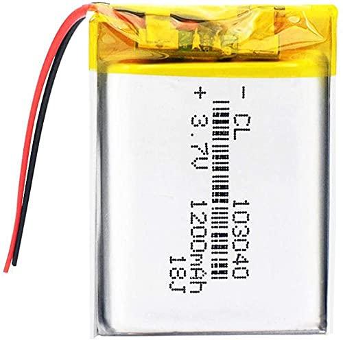 Batería De Iones De Litio De 3,7 V 103040 Polímero De Litio De 1200 Mah para Linterna Led Control Remoto Selfie Stick-1 Pieza