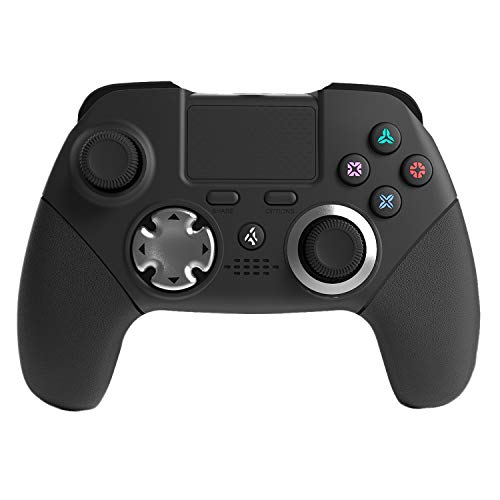 PS4 Elite Controller with Back Paddles, 6 Axis Sensor Modded Custom programmable Dual Vibration Elite PS4/PS3 Wireless Game Controller Joystick for FPS Games