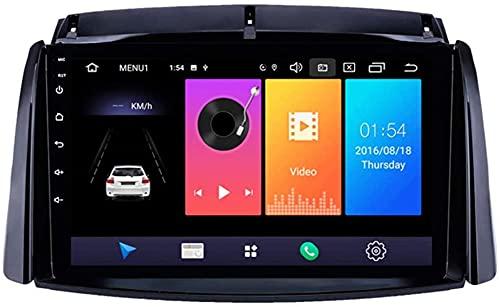 LYHY Android 9.1 Navegación GPS estéreo Multimedia de 9 Pulgadas para Renault Koleos 2009-2016 con FM RDS AutoRadio es Compatible con DSP ODB2 DVD/Bluetooth Free Hand/Volante, 8 núcleos, 2 + 32GB